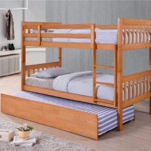Lydia Bunk Bed Pine Trundle Add On