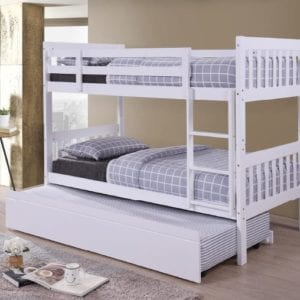 White Lydia Trundle Bunk